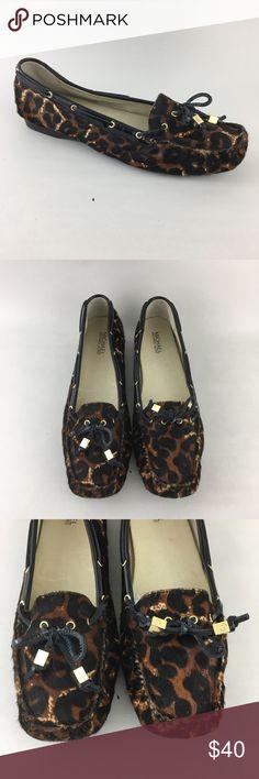 943d909aa94c Michael Kors Cheetah Flats Moc Calf Hair 11M Michael Kors Cheetah Flats Moc Calf  Hair 11M