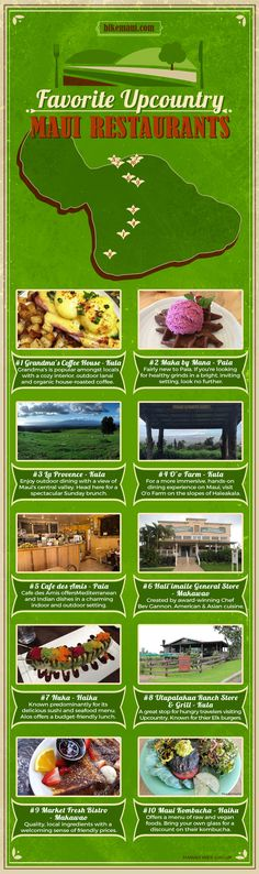 favorite upcountry restaurants infographic