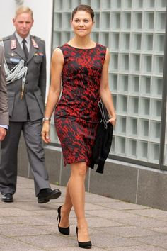 HRH Crown Princess Victoria of Sweden attending the Baltic Sea Seminar at the Finnish Embassy in Stockholm, Aug 2014