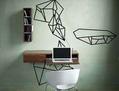Geometric Illustration Wall Decal