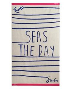 Seas the Day Beach Towel from Joules. Perfect for a summer getaway towel or beach blanket #joules