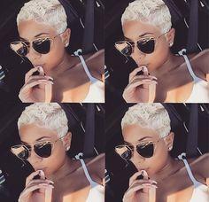 Best Short Pixie Hairstyles for Black Women 2018 – 2019 - hair - Hair Designs Blonde Pixie Cuts, Short Hair Cuts, Short Hair Black Girls, Pixie Cut Black Girl, Black Girl Hair Cuts, Natural Hair Short Cuts, Pixie Hairstyles, Black Women Hairstyles, Hairstyles 2016