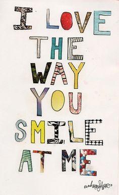 """""""Amo el modo en que me sonríes"""" ♥ #love #amor"""