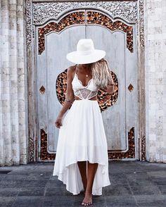 IT'S BACK! Cast Away Maxi Dress White as seen on babe @gypsylovinlight  #hellomollyfashion  www.hellomollyfashion.com/cast-away-maxi-dress-white.html