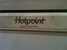 An old Hotpoint made in Great Britain refrigerator, still in full working order in August 2013. Sadly Hotpoint do not manufacture many of their products in the UK anymore.