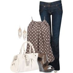 I like the style of this top, not sure how I feel about the polka dots but I'd be willing to try.