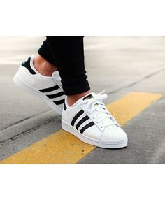 half off 98939 bb8aa Adidas Junior Superstar White Black Shoes Tenis Casual Branco, Adidas Shoes  White, Adidas Classic
