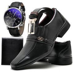 Sapato Social Infantil Neway WS Shoes Masculino Preto