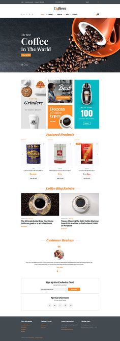 Coffee Of The World Online Store #Virtuemart #template. #themes #business #responsive