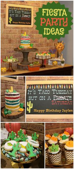 Here's a taco night Mexican fiesta! See more party ideas at CatchMyParty.com!