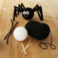 Halloween Spider #decorations #spider #halloween #crafts #DIY