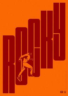 Minimalist movie poster - Rocky