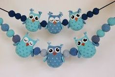 Crochet Heart Stitch Owl Amigurumi Free Patterns I wanted an owl for a project and found some r. Owl Crochet Patterns, Crochet Owls, Crochet Baby, Free Crochet, Owl Mobile, Baby Mobile, Ball Decorations, Baby Owls, New Baby Gifts
