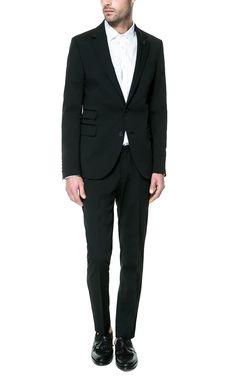 ZARA Black Structured Slim Fit Suit (Jacket £119) (Trousers £59.99)