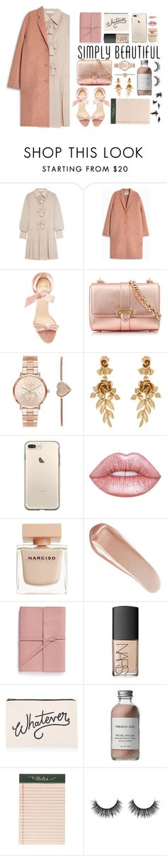 """simply beautiful"" by jafashions ❤ liked on Polyvore featuring See by Chloé, Acne Studios, Alexandre Birman, Aspinal of London, Michael Kors, Oscar de la Renta, Lime Crime, Narciso Rodriguez, NARS Cosmetics and Bynd Artisan"