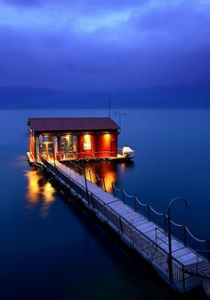 Tiny house on the water in Arnissa, Greece {picture only}