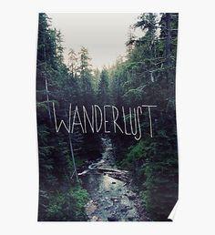 Wanderlust Rainier Creek Poster