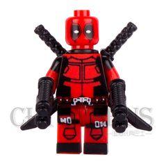 Single Deadpool Wade T. Wilson Wolverine with Swords Guns AVENGERS Minifigures Model DIY Building Blocks Kids Toy Gift