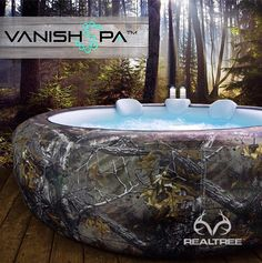 Vanish Spa Partners With Realtree Outdoors® To Make Luxurious Camouflage Hot Tub That Is Portable And Attainable Camouflage, Hot Tub Garden, Hunting Camo, Hunting Cabin Decor, Realtree Camo, Pink Camo, Country Girls, Country Outfits, Country Style