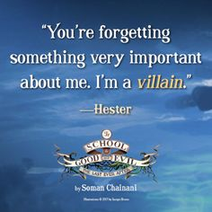 Hester's quote – School for Good and Evil.
