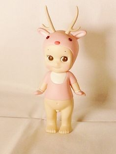 DREAMS Minifigure Sonny Angel Reindeer Xmas Christmas 2007 Series Special Collectible Figure Pink Secret Version