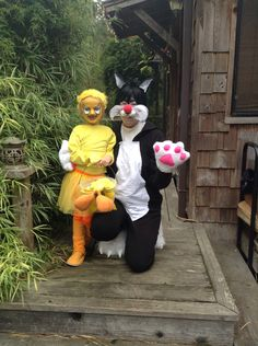 Pieced together Tweety and Sylvester costumes!