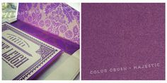 AvantGarde Design Color Crushing on Majestic Purple from Envlopments { Wedding Inspiration - Connecticut Wedding Invitation Company}   AvantGarde Design - Graphic Design & Print Company in Connecticut