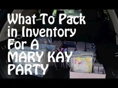 What to pack in inventory for a Mary Kay Party. www.marykay.com/mjbooth