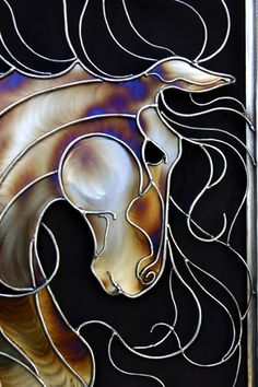 Stain glass horse! So beautiful!! I wish my grandpa could make this for me because he used to do stain glass!!! <3