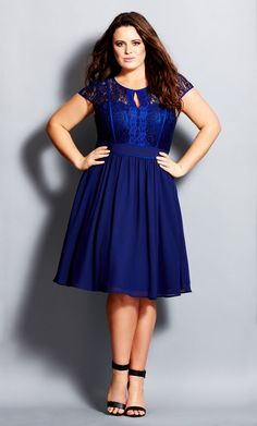 Plus Size Romantic Rosa Dress - City Chic