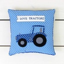 Blue Tractor Cushion  - Lily and Moor