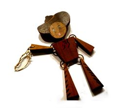 I'm an Old Cow Hand. Vintage Jointed Wooden Cowboy by decotini, $95.00
