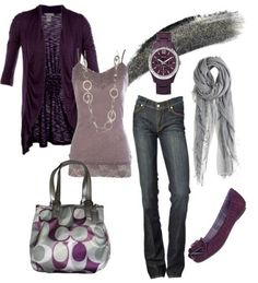 StitchFix 11/14/17.....Love the colors!  I think sweater is shorter sleeve?  Would love 3/4 or short sleeve open knit sweater. Don't like style of jeans but I love the purple, lilac, grey, blue look!  And I love Coach too.