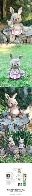 Jirra and Joey Kangaroos amigurumi pattern