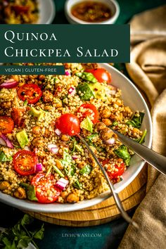 This quinoa chickpea salad tastes light, refreshing and serves as a perfect addition to a summertime lunch meal. It's gluten-free, plant-based friendly and guilt-free. #Quinoarecipes #chickpearecipes #veganlunchideas #summerrecipes #saladideas Quinoa Chickpea Salad, Chickpea Recipes, Lunch Recipes, Summer Recipes, Mineral Food, Quinoa Benefits, Making Quinoa, Vegan Lunches, Salad Ingredients