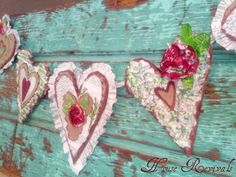 House Revivals: Valentine Heart Garland from the Recycling Bin Valentine Banner, My Funny Valentine, Valentines Day Hearts, Valentine Day Love, Valentine Day Crafts, Vintage Valentines, Holiday Crafts, Valentine Stuff, Valentine Ideas