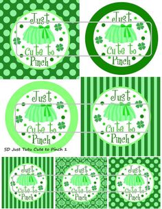 DIY Printable Just Tutu Cute to Pinch 1 Shrinkable by MaddieZee, $1.25
