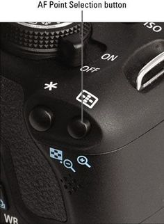How to select an auto focus point on the Canon Rebel T3