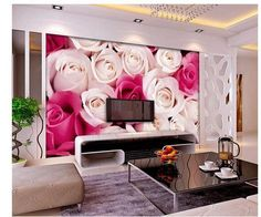 Custom personalized Full screen backdrop roses wallpapers mural papel de parede non woven wallpaper 8465245-in Wallpapers from Home & Garden on Aliexpress.com | Alibaba Group