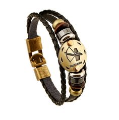 Bracelets Jiayiqi Fashion Charm Jewelry Bronze Alloy 12 Zodiac Leather Bracelet Punk Wooden Beads For Women Men Multilayer Easy Buckles -- This is an AliExpress affiliate pin. Click the VISIT button for detailed description on AliExpress website Bracelets For Men, Fashion Bracelets, Bangle Bracelets, Fashion Jewelry, Bangles, Leather Bracelets, Fashion Fashion, Women Jewelry, Accessories Jewellery