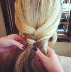 Fishtail Braid step by step