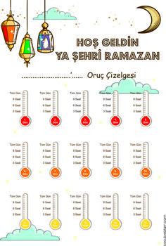 Oruc Takip 01 value Ramadan Day, Islam Ramadan, Ramadan Crafts, List Of Activities, Infant Activities, Islam For Kids, Islamic Studies, Ice Breakers, Kids Education