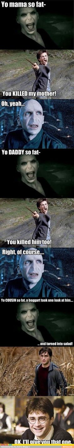 Collection of Harry Potter Memes - .- Sammlung von Harry Potter-Memen – Collection of Harry Potter Memes – - Harry Potter Vs Voldemort, Harry Potter Puns, Lord Voldemort, Memes Humor, Funny Memes, Funny Quotes, Puns Hilarious, Humor Quotes, Nerd Humor