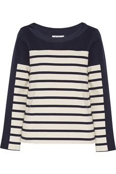 M.I.H JEANS Striped Cotton-Jersey Top. #m.i.hjeans #cloth #top