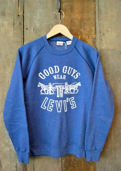 "84a445470 Levi s Vintage Clothing - ""Good Guys Wear Levi s"" Made in USA Sweatshirt.  Vintage"