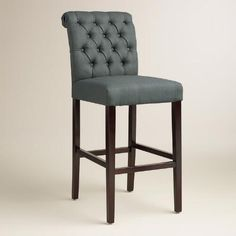 One of my favorite discoveries at WorldMarket.com: Charcoal Gray Tufted Harper Barstools, Set of 2