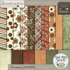 $1 Sale - Grab-A-Byte from TwinMomScraps! Timeless PAPERS; http://scrapbookbytes.com/store/digital-scrapbooking-supplies/timeless-papers.html. 12/08/2013