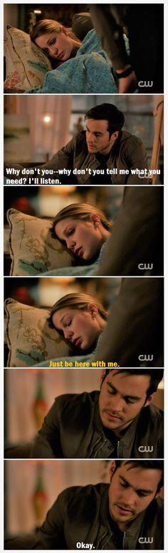 Why I <3 these two: Kara's essentially physically indestructible. Emotionally, she's so vulnerable that she retreats into herself. Mon-El (when paying attention) has a natural  read on emotions, esp. Kara's. By just being there with her, being himself while she's upset & not asking her to describe her feelings, he's comforting her.   TV Shows  CW  #Supergirl edit  Season 2  2x14  Homecoming  Kara x Mon-El  #Karamel edit  Kara Danvers  Melissa Benoist  Chris Wood  #DCTV 