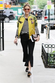 Olivia Palermo's Pants Have This Outfit-Making Detail via @WhoWhatWear