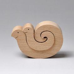 組み木 木のおもちゃ 『遊プラン』 KA159 | ヘビのカップル